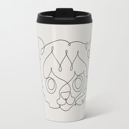 One Line Cat Travel Mug