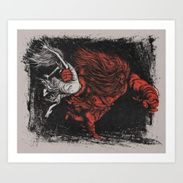 The Rape of the Sabine Women Art Print