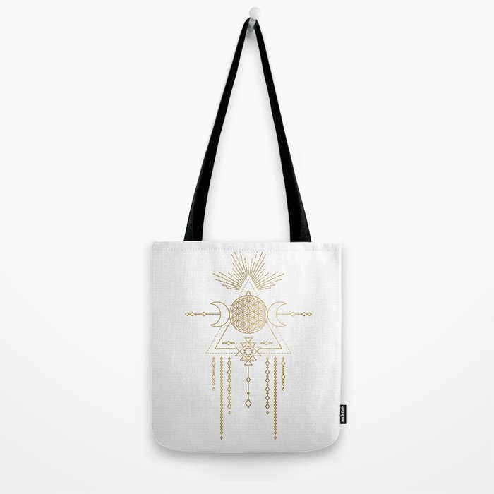 Golden Goddess Mandala Tote Bag