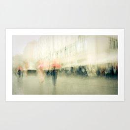 saturday in town Art Print