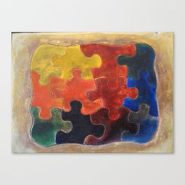 Multicolor Puzzle Painting Canvas Print