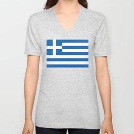 Flag of Greece Unisex V-Neck