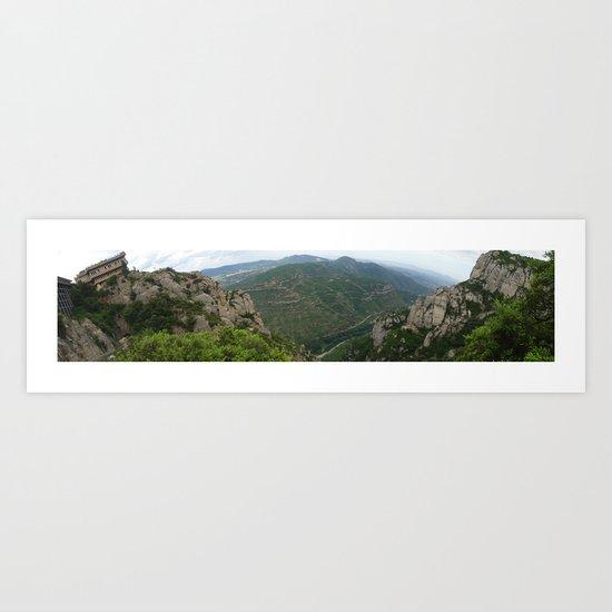 Montserrat, Barcelona Art Print