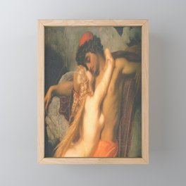 Syren and a Fisherman by Frederic Leighton Framed Mini Art Print