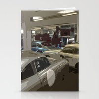 porsche Stationery Cards featuring Porsche Garage by Premium