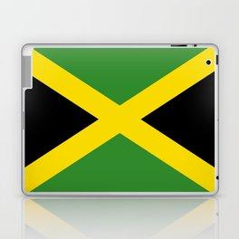 Flag of Jamaica-Jamaican,Bob Marley,Reggae,rastafari,weed,cannabis,ganja,america,south america,ragga Laptop & iPad Skin