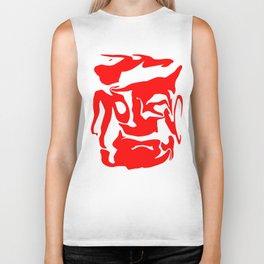face3 red Biker Tank