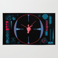 nasa Area & Throw Rugs featuring Tie Fighter Meets NASA Voyager 1 by Ryan Huddle House of H