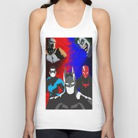nightwing Tank Tops featuring Nightwing, Red Hood by dudesweet