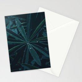 Dark Jungle Leaves Stationery Cards