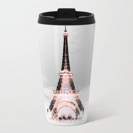 pariS Black & White + Pink Travel Mug