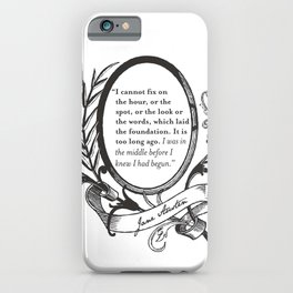 "Jane Austen ""In the Middle"" iPhone Case"