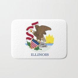 Illinois State Flag, authentic color & scale Bath Mat