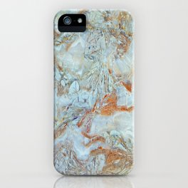 Marble in shades of blue and gold iPhone Case