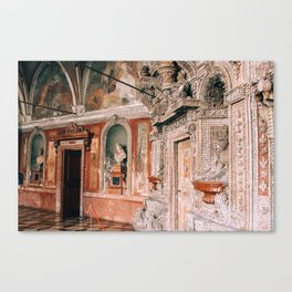 Decor of Shell Grotto Residenz Munich Canvas Print