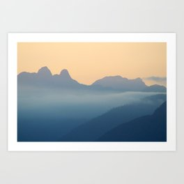 Vancouver Sunset #1 Art Print