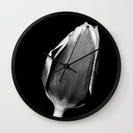 Crocus in Black and White Wall Clock