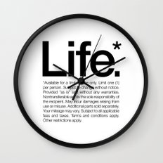Life.* Available for a limited time only. (White) Wall Clock