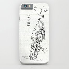 FW - 190 ( B & W) iPhone Case