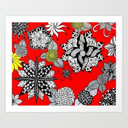 Pattern in Red  Art Print