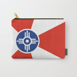 Wichita Kansas city flag united states of america Carry-All Pouch