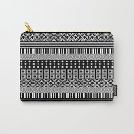 Black and White Shapes Design Carry-All Pouch