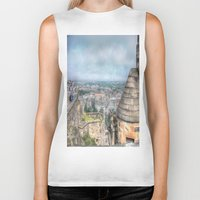 edinburgh Biker Tanks featuring Edinburgh Castle by Christine Workman