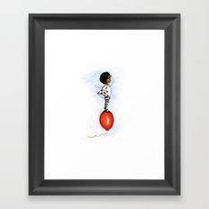 Freedom Sails High on a balloon Framed Art Print