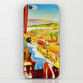 Vintage Nice Italy Travel iPhone Skin