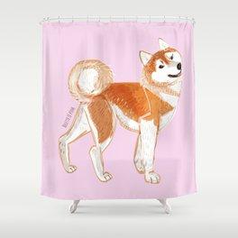 Japanese Dog Breeds: Akita Inu Shower Curtain