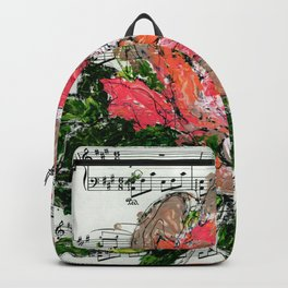 Phantom - Floral - Piano notes Backpack