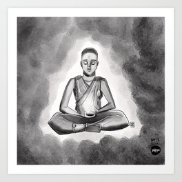 Inktober Day 15 - Meditative State Art Print