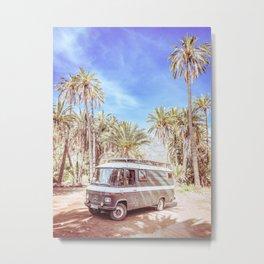Palmtrees & Vans | Vanlife in Mexico Metal Print