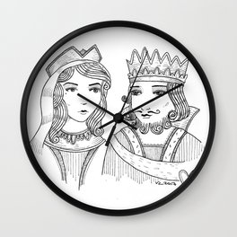 What's a king without his queen? Wall Clock