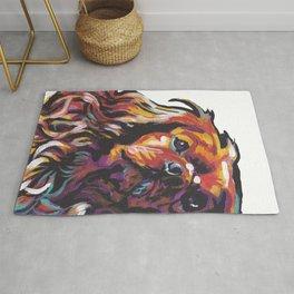 Ruby Cavalier King Charles Spaniel Dog Portrait Pop Art painting by Lea Rug