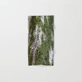 Birch Bark Pattern Green and White Wood Pattern Bring the Outdoors In Hand & Bath Towel