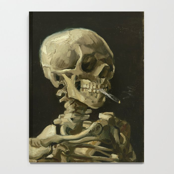 Vincent van Gogh - Skull of a Skeleton with Burning Cigarette Notebook