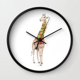 Giraffe in a Scarf Wall Clock