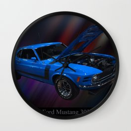 1970 Ford Boss 302 Mustang Wall Clock