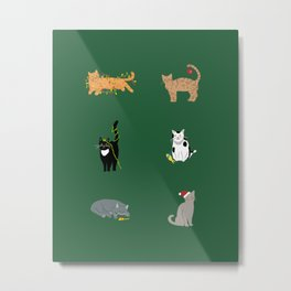 Christmas Cats Metal Print