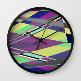Crossed Paths - abstract, geometric, intersecting pastel shapes Wall Clock