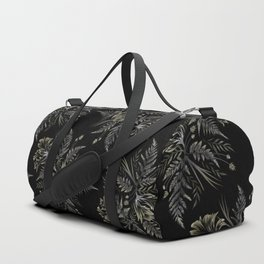 Ferns and Parrot Tulips - Black Duffle Bag