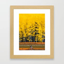 Hometown memories Framed Art Print