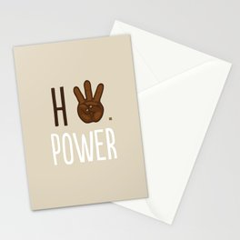 HiiiPower (w/text) : Chocolate Stationery Cards