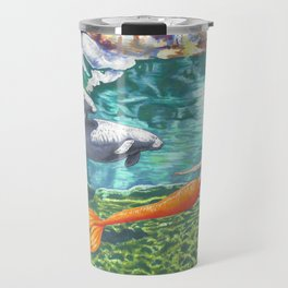 Swimming with Manatees Travel Mug