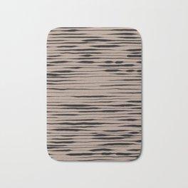 Hand Painted Lines / Dark Beige Bath Mat