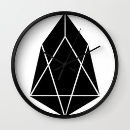 EOS Cryptocurrency Design Wall Clock