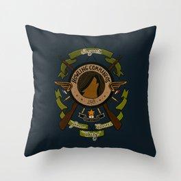 Sgt Bucky Barnes (green) Throw Pillow