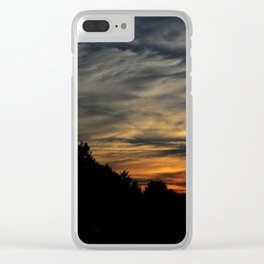 WILD SUNSET - LIKE WAVES IN THE SKY #1 Clear iPhone Case