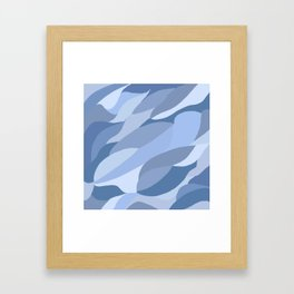 Just Blue Framed Art Print